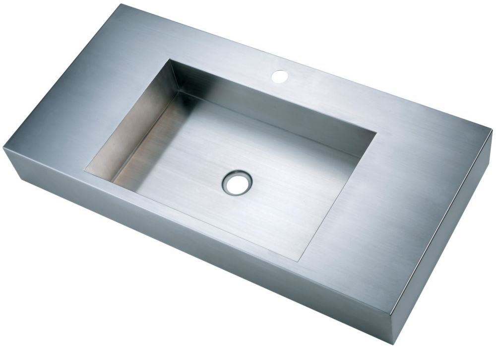 Long-bassin avec Zero coins arrondis