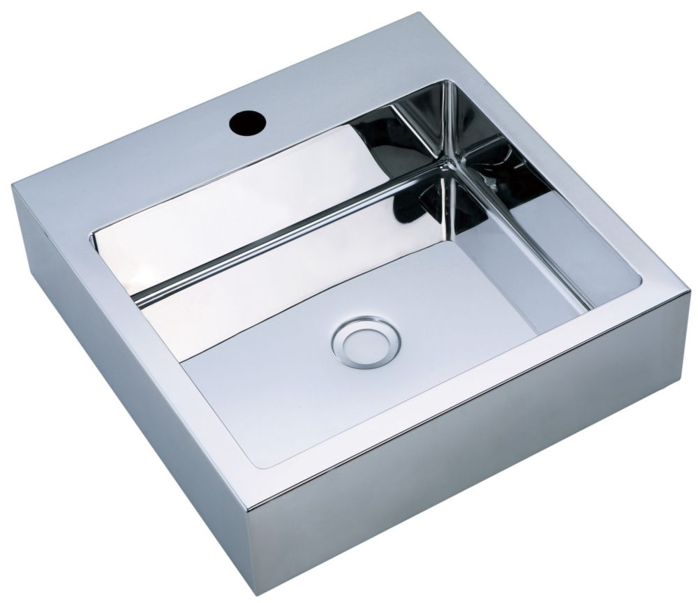 Mirror Polished Square Basin with Zero-Radius Corners