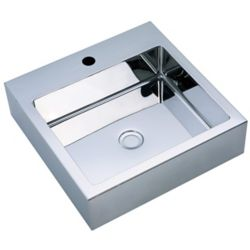 Vodasinks Mirror Polished Square Basin with Zero-Radius Corners