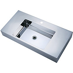 Vodasinks Mirror Polished Long Basin with Zero-Radius Corners