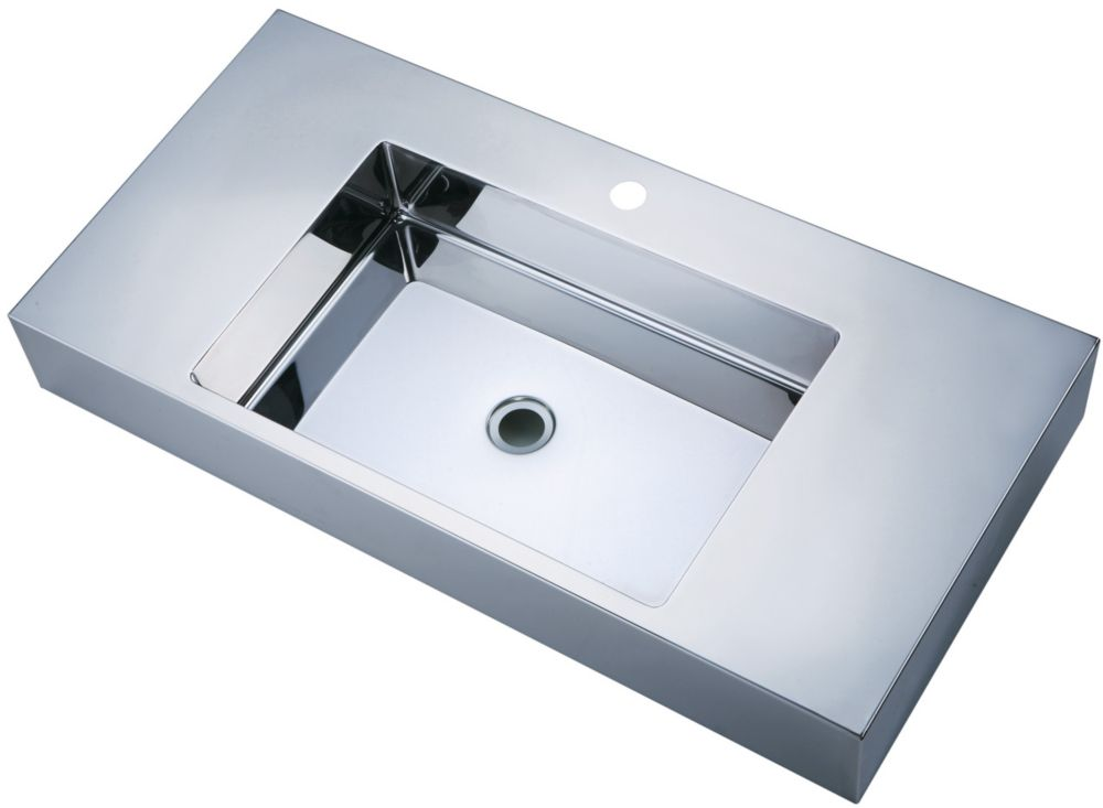 Mirror Polished Long Basin with Zero-Radius Corners