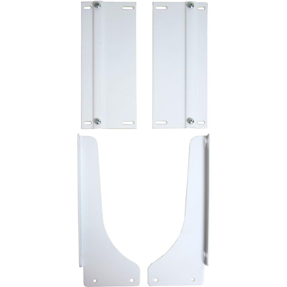 Trousse de montage sur porte pour poubelle blanc