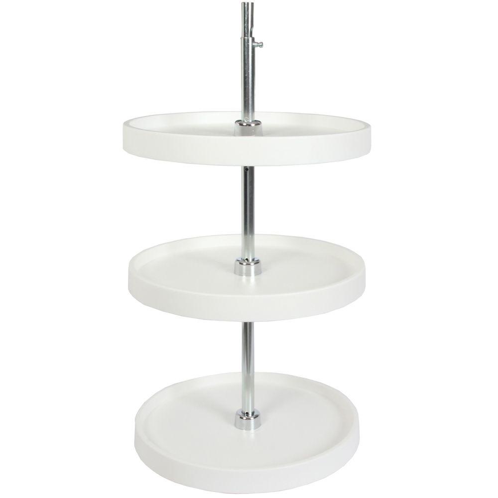 Full Round 3 Shelf Poly Lazy Susan - 18 Inches Diameter PFN18S3T-W Canada Discount