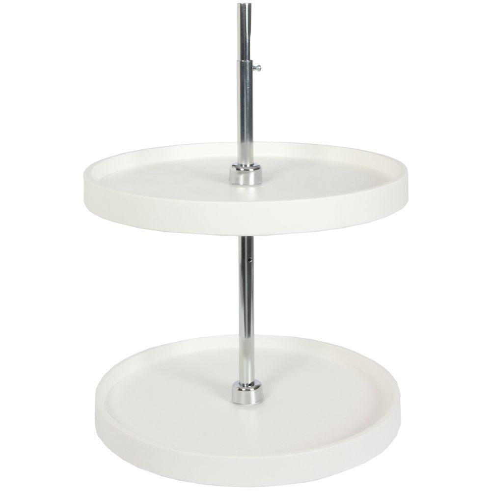 Full Round 2 Shelf Poly Lazy Susan - 18 Inches Diameter