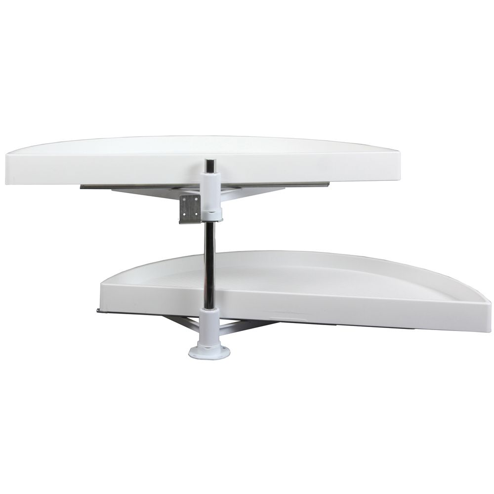 Double Glide-Out Out Half Moon Poly Lazy Susan - 27.875 Inches Diameter