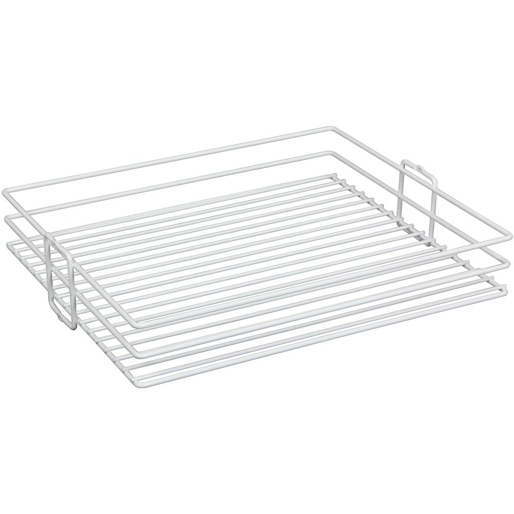 Panier pour garde-manger à installation par le centre blanc - 14 pouces de largeur