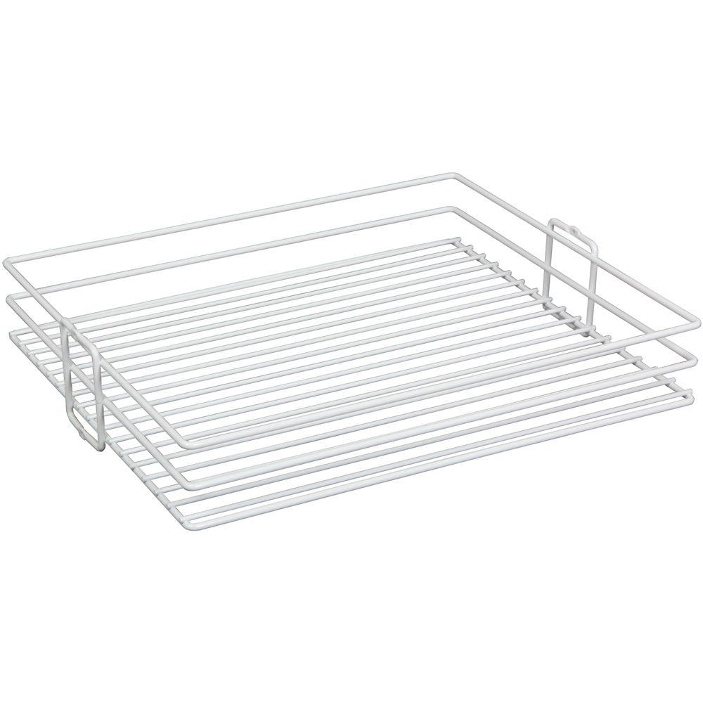 Panier pour garde-manger à installation par le centre blanc - 17 pouces de largeur