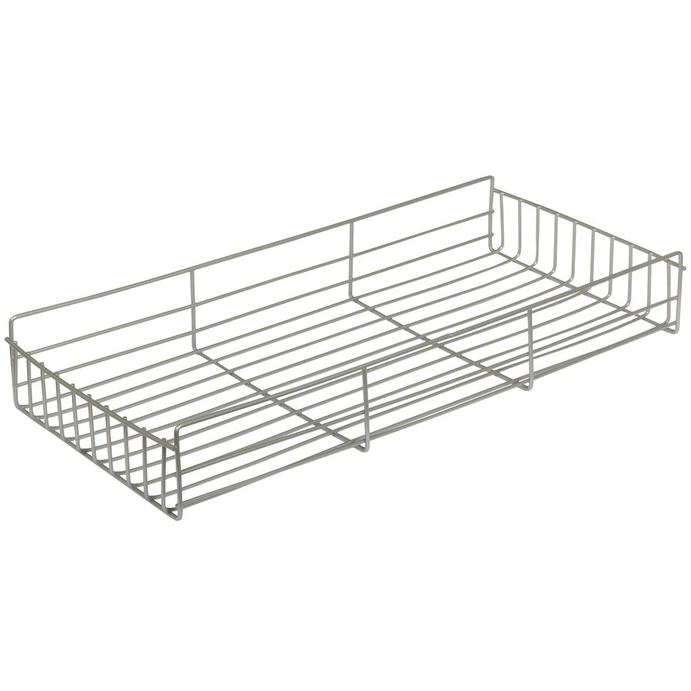 Frosted Nickel Side-Mount Pantry Basket - 8 Inches Wide