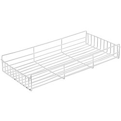 Knape & Vogt White Side-Mount Pantry Basket - 9 Inches Wide