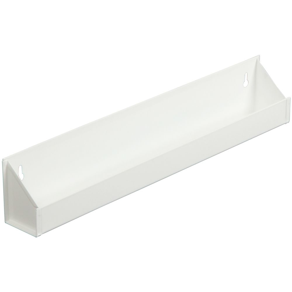 White Steel Sink Front Tray - 13.0625 Inches Wide