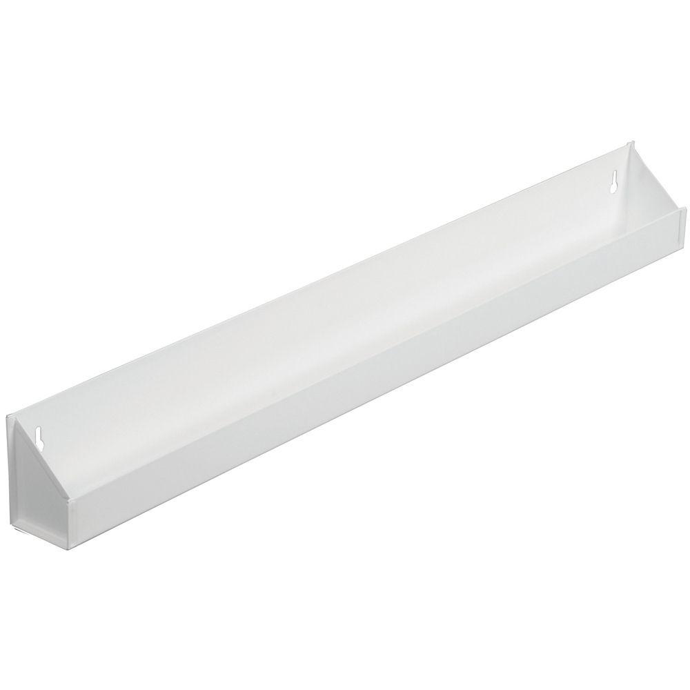 Panier faux-tiroir en acier blanc - 31,0625 pouces de largeur