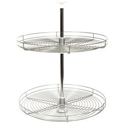 Knape & Vogt Full Round Frosted Nickel Wire Lazy Susan - 24 Inches Diameter