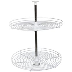 Knape & Vogt Full Round White Wire Lazy Susan - 24 Inches Diameter