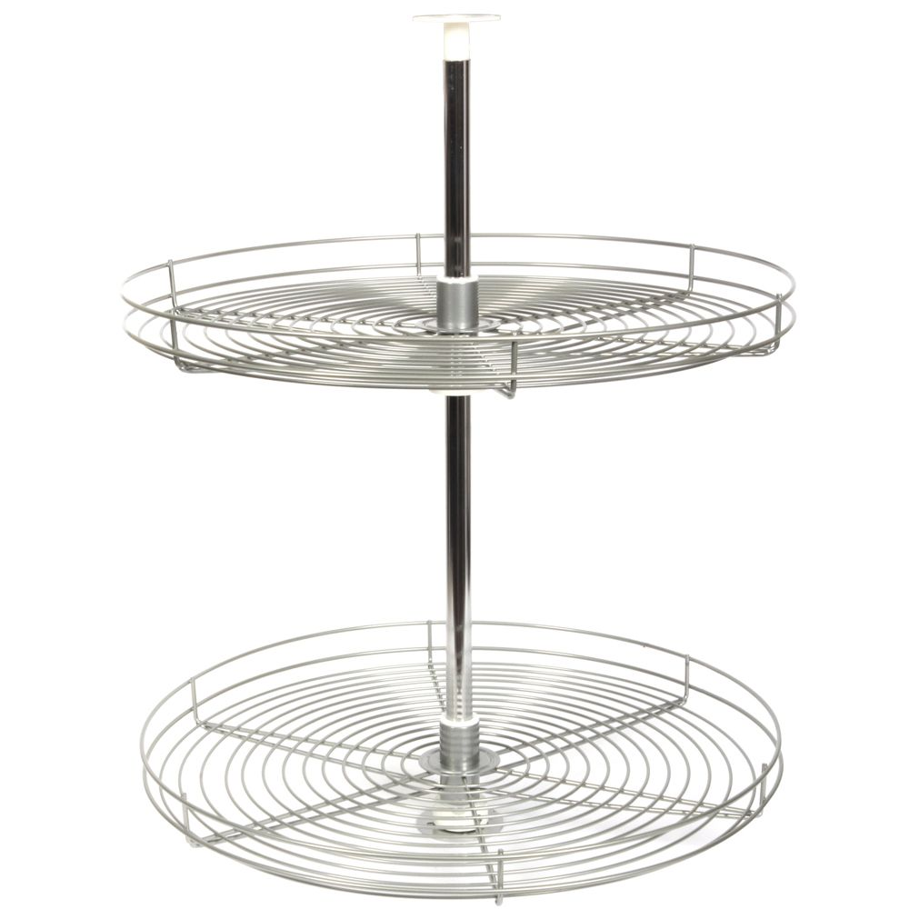Full Round Frosted Nickel Wire Lazy Susan - 28 Inches Diameter