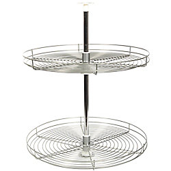 Knape & Vogt Full Round Frosted Nickel Wire Lazy Susan - 28 Inches Diameter