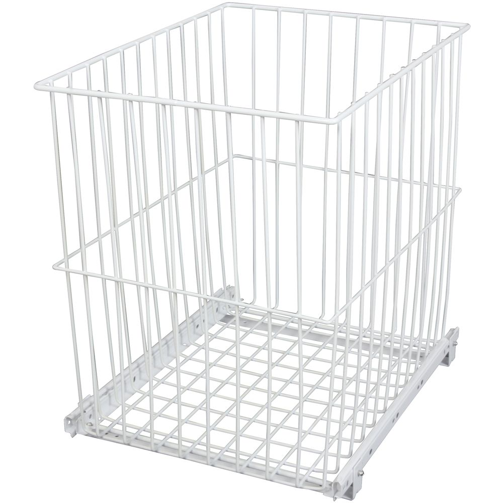 Roll-Out Wire Hamper - 14.4375 Wide x 18.875 Inches Tall