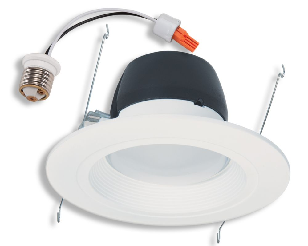 Recessed lighting the home depot canada 5 inch6 inch led retrofit kit matte white baffle and trim ring mozeypictures