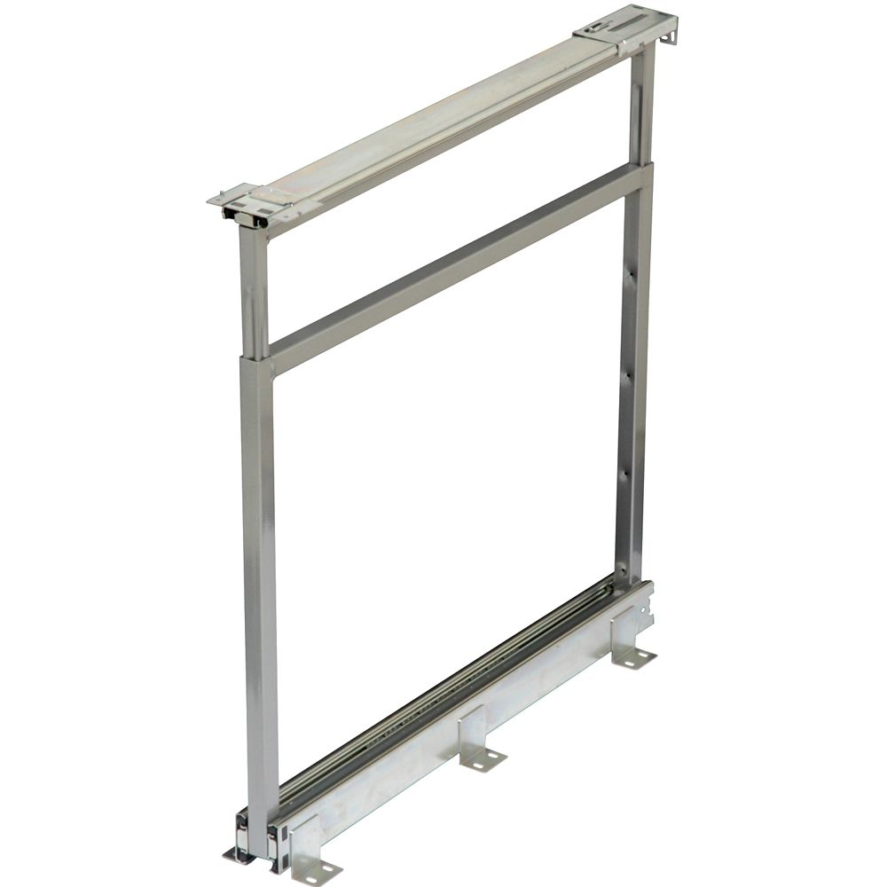 Center Mount Frosted Nickel Pantry Frame - 25 Inches to 28.5 Inches Tall
