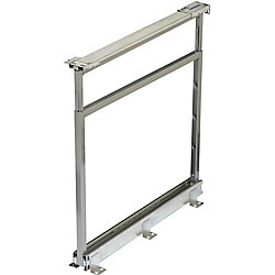 Knape & Vogt Center Mount Frosted Nickel Pantry Frame - 25 Inches to 28.5 Inches Tall