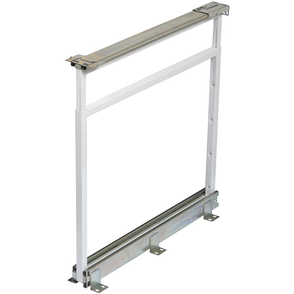 Center Mount White Pantry Frame - 25 Inches to 28.5 Inches Tall