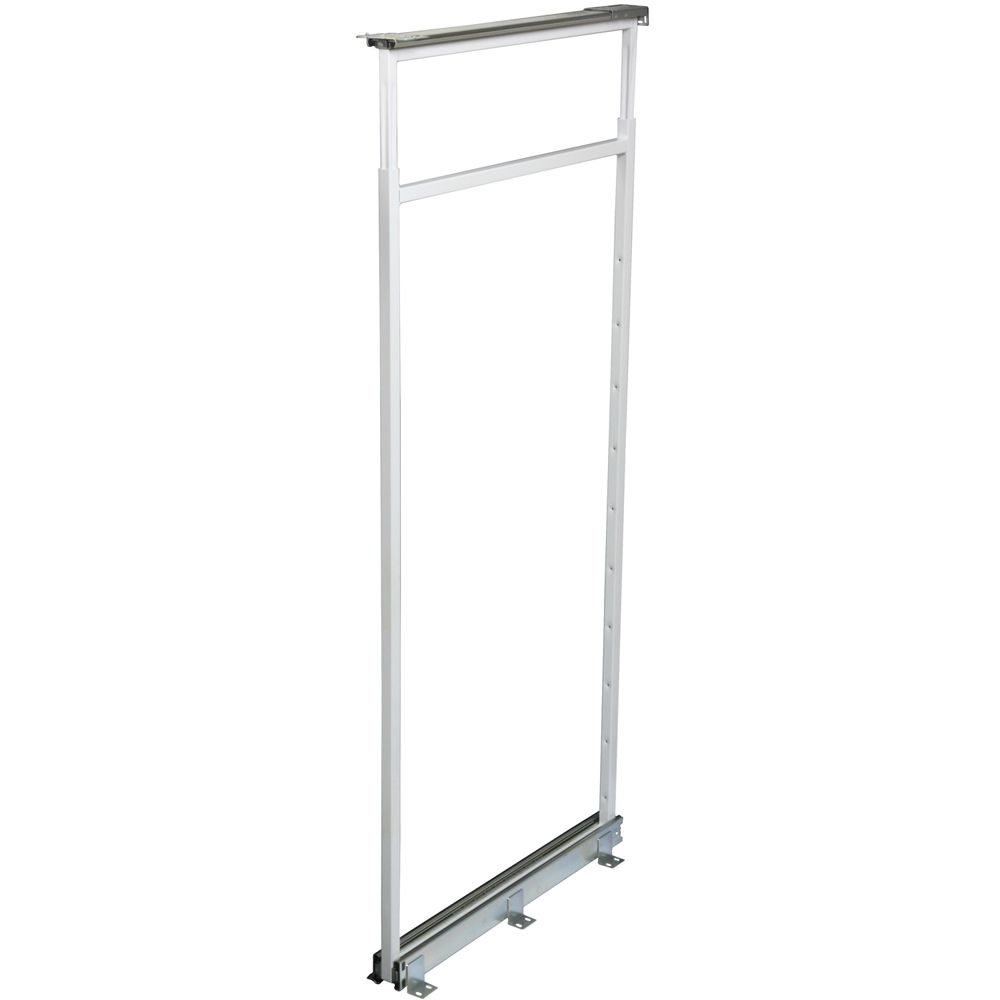 Center Mount White Pantry Frame -  42.5 Inches to 49.375 Inches Tall