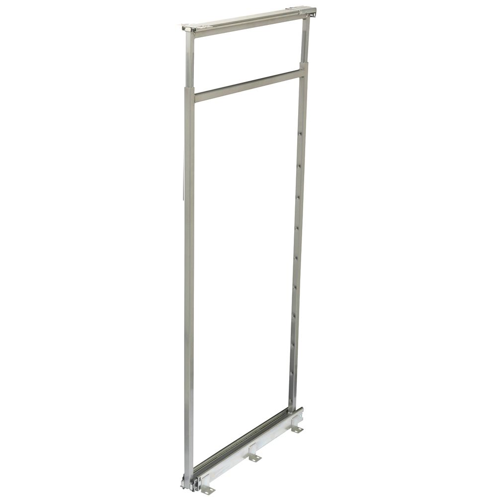 Center Mount Frosted Nickel Pantry Frame - 46.5 Inches to 53.375 Inches Tall