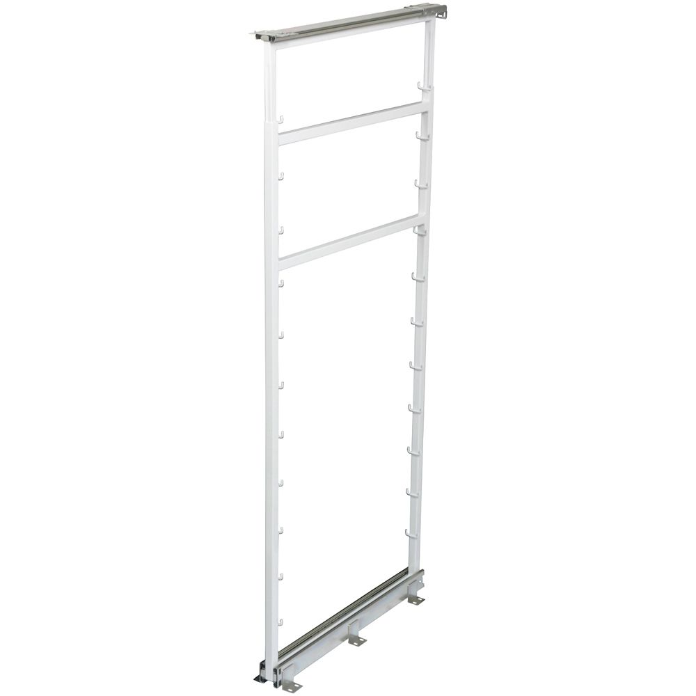 White Side Mount Pantry Frame -  50.5 Inches to 57.375 Inches Tall
