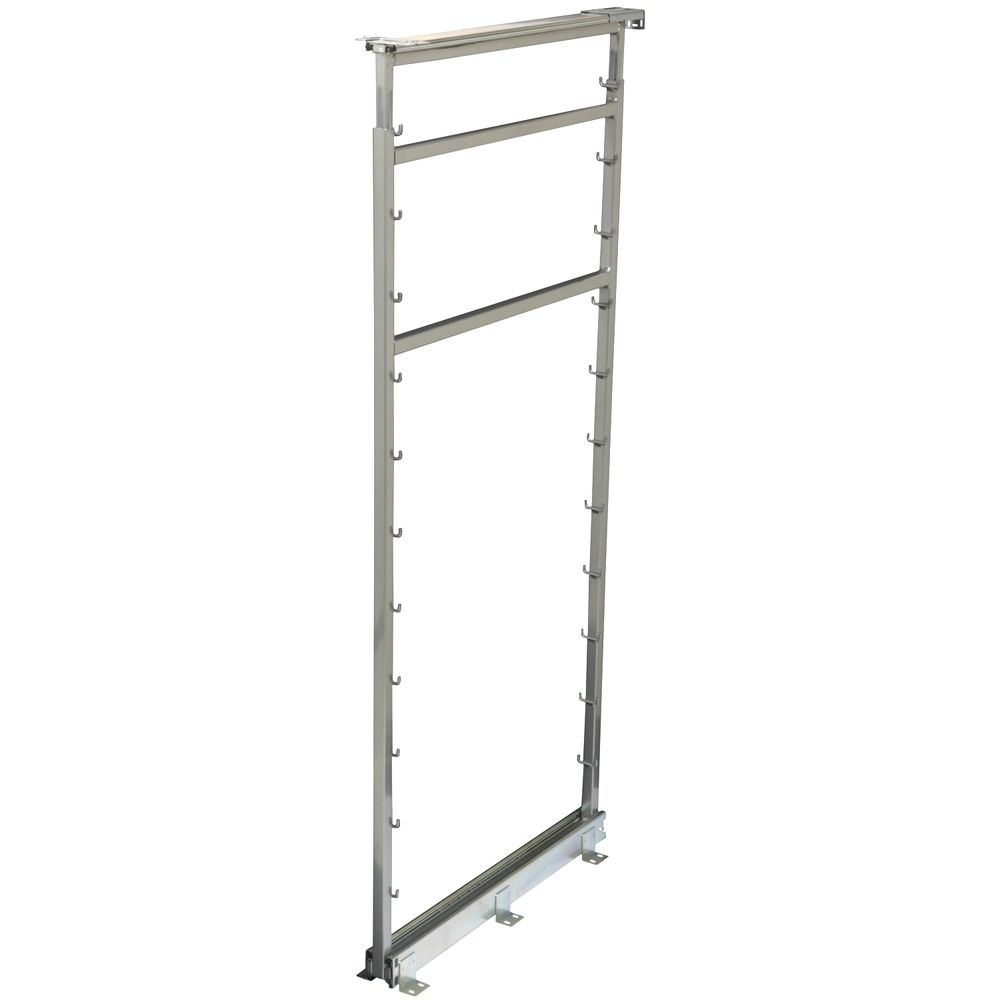 Side Mount Frosted Nickel Pantry Frame - 54.5 Inches to 61.375 Inches Tall