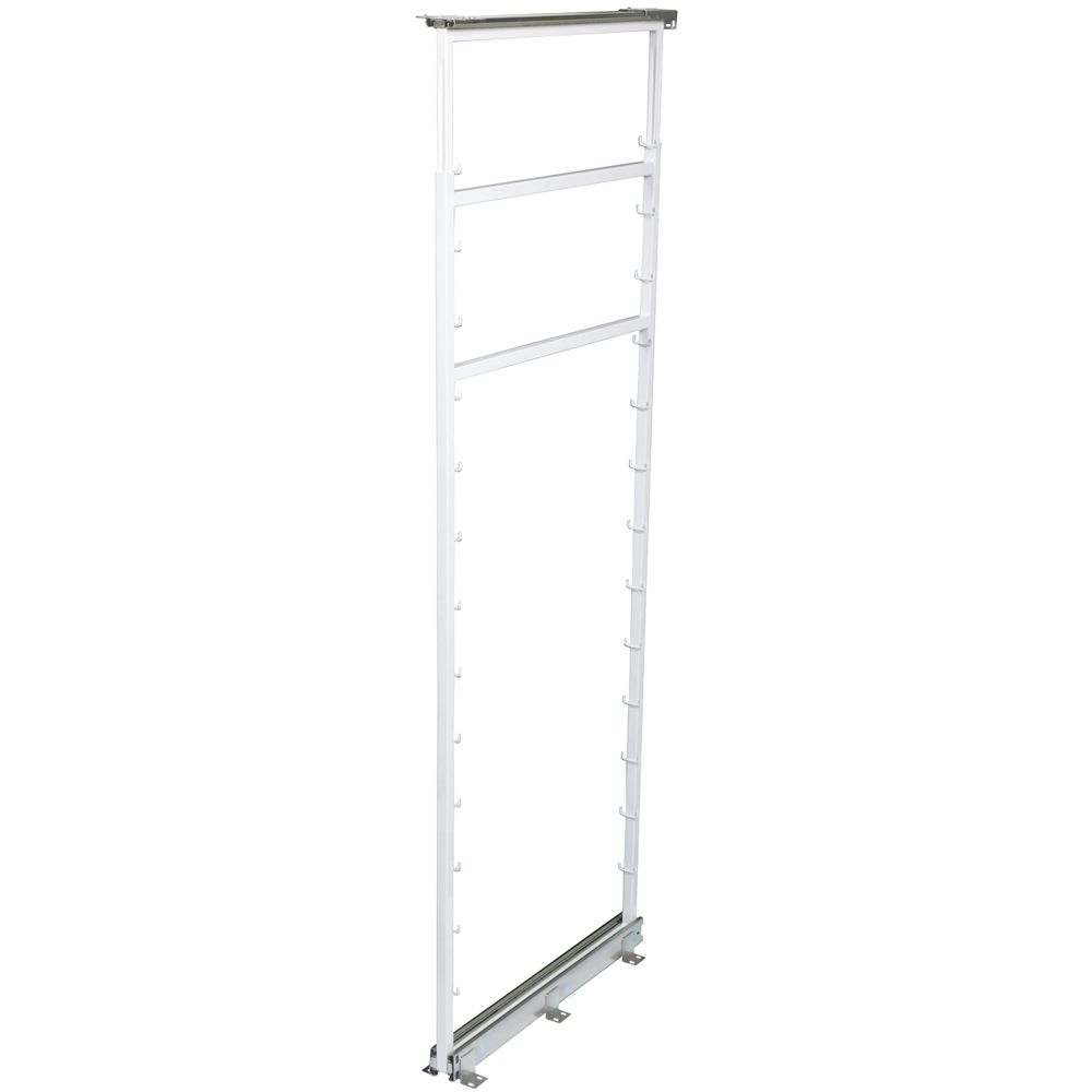 White Side Mount Pantry Frame -  65 Inches to 71.875 Inches Tall