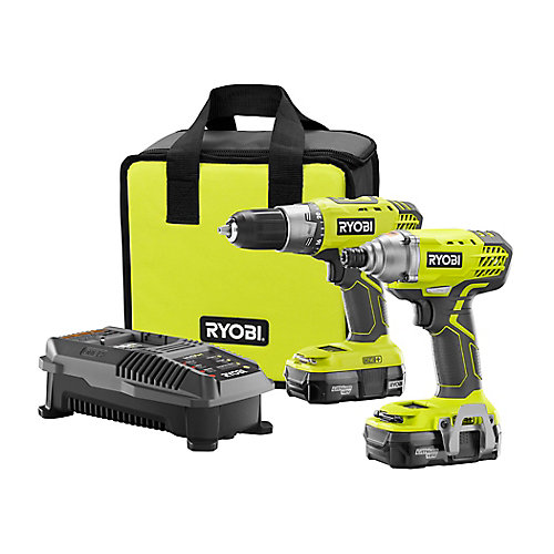 18V ONE+ Lithium-Ion Cordless Drill/Driver and Impact Driver Combo Kit (2-Tool) with (2) Batteries