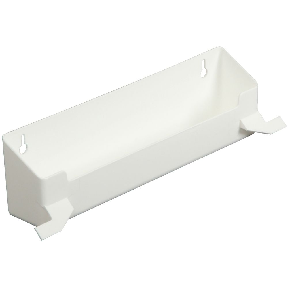Polymer White Sink Front Tray With Stops - 12.375 Inches Wide PSF11W-W Canada Discount