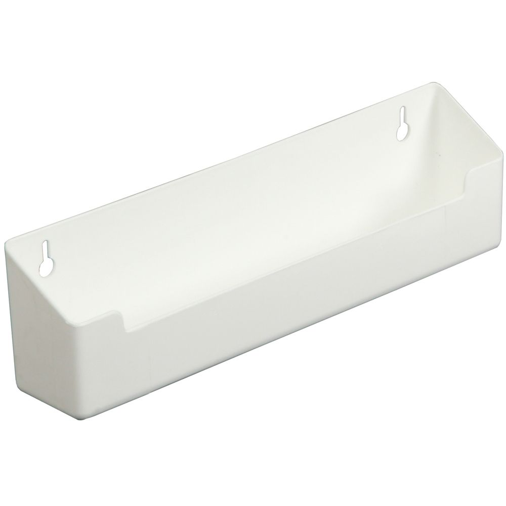 Polymer White Sink Front Tray With Stops - 15.375 Inches Wide