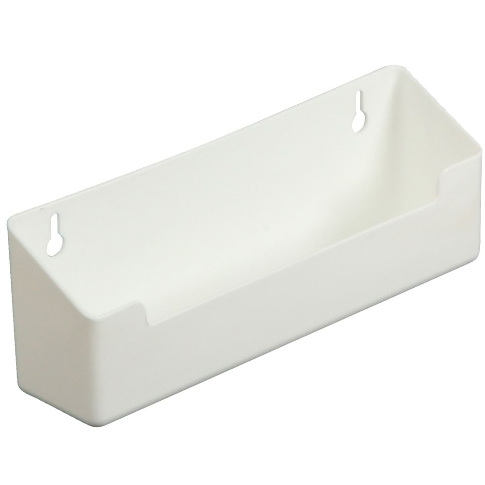 Polymer White Sink Front Tray With Stops - 8.625 Inches Wide