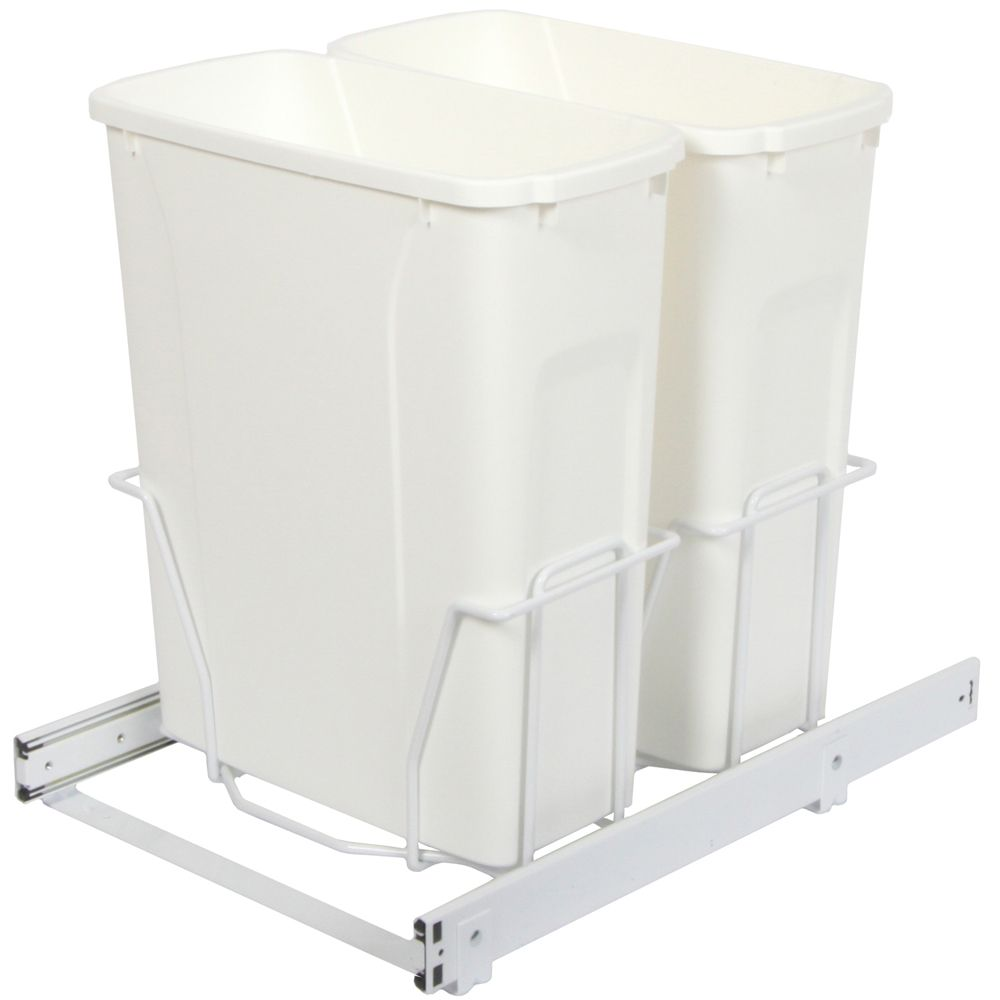 Double 20 Quart Bin Waste and Recycling Unit - Lid is not Included