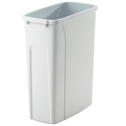 Poubelle à déchets et à recyclage de 18,9 litres blanc