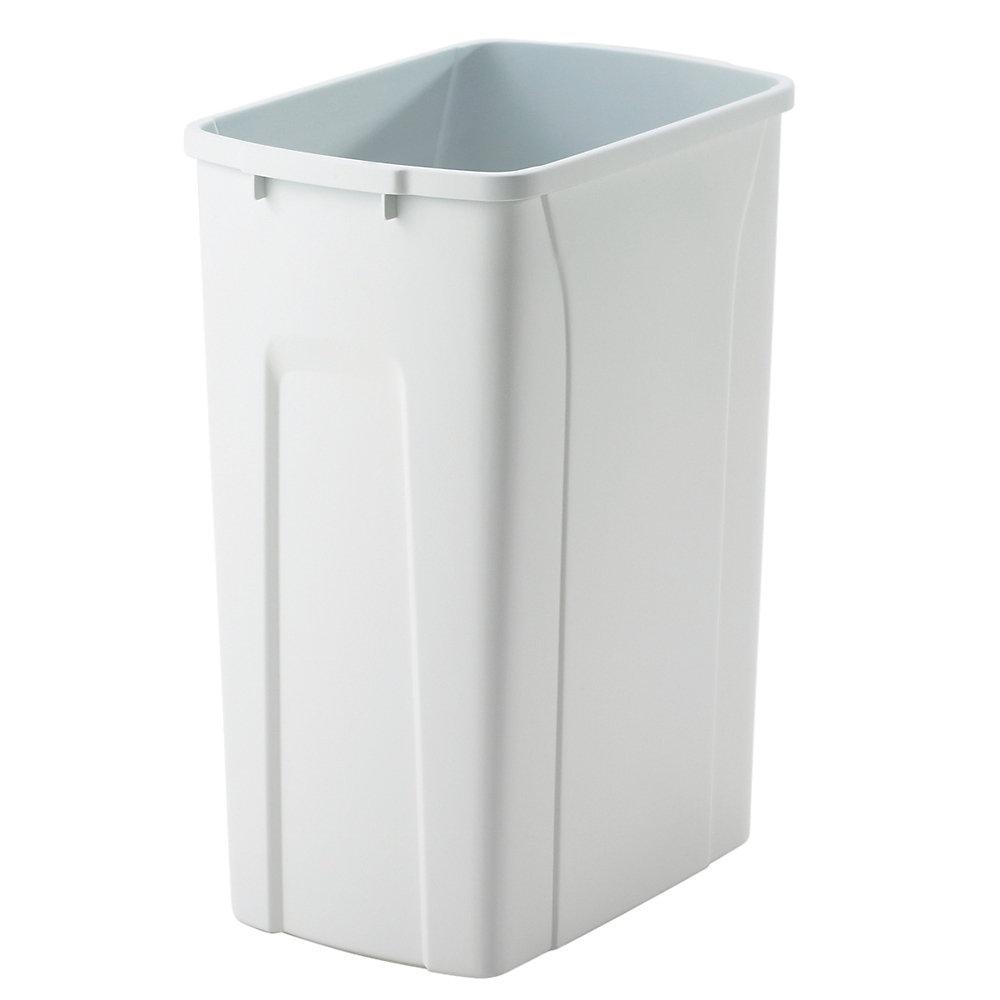 Poubelle à déchets et à recyclage de 33 litres blanc
