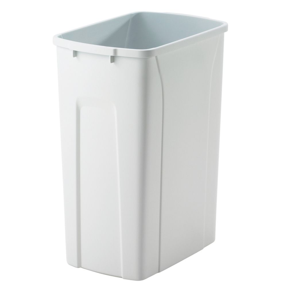 35 Quart White Waste and Recycle Bin