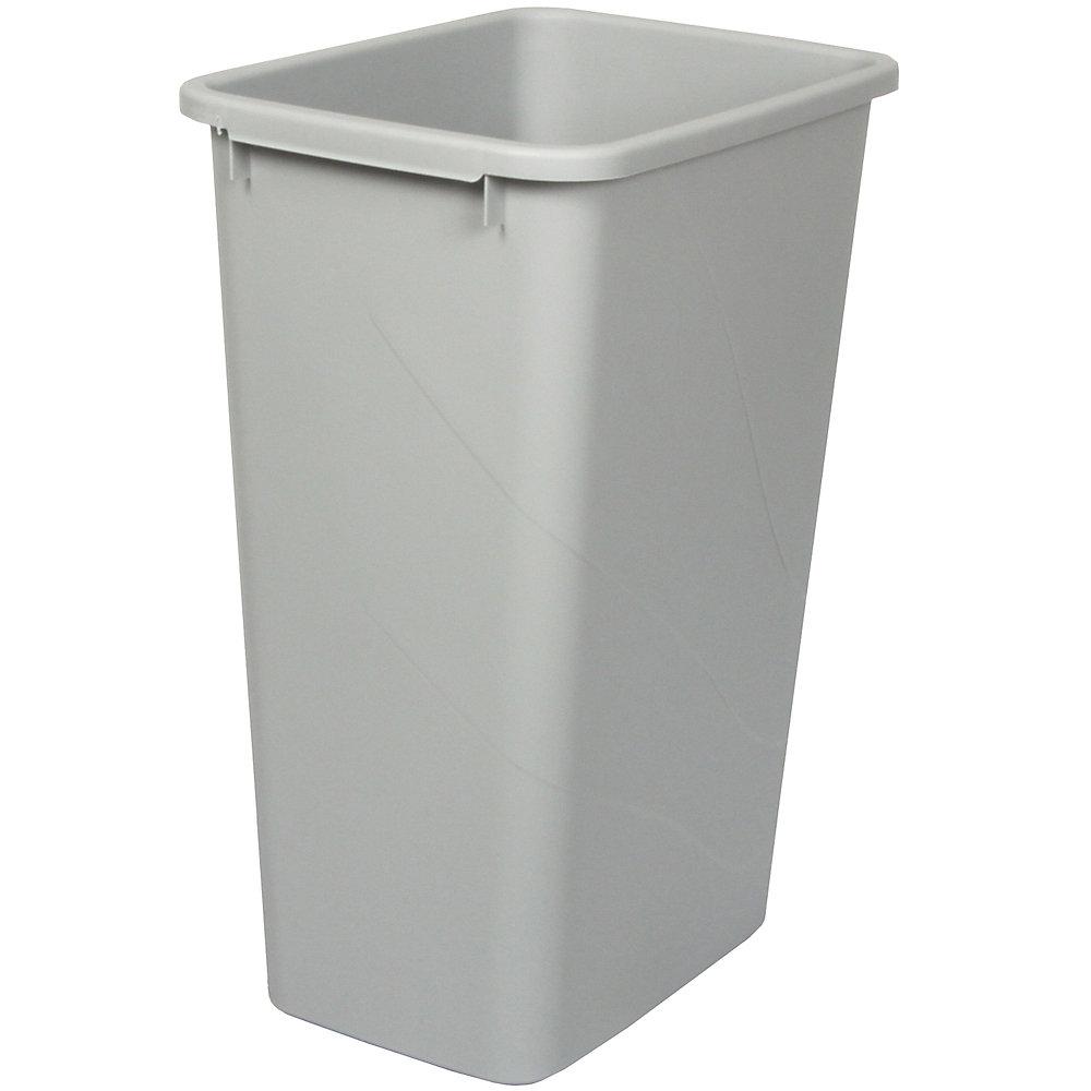 Poubelle à déchets et à recyclage de 47,3 litres platine