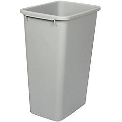 Knape & Vogt Poubelle à déchets et à recyclage de 47,3 litres platine
