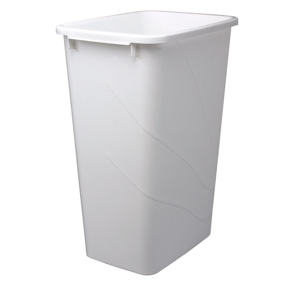 50 Quart White Waste and Recycle Bin QT50PB-W Canada Discount