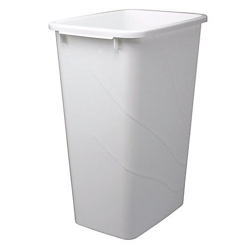 Poubelle à déchets et à recyclage de 47,3 litres blanc