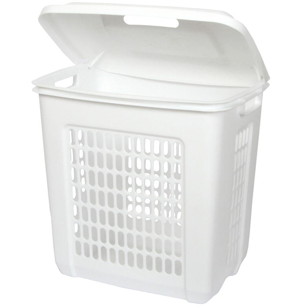 60 Quart White Hamper