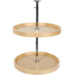 Knape & Vogt Full Round Wood Lazy Susan - 18 Inches Diameter