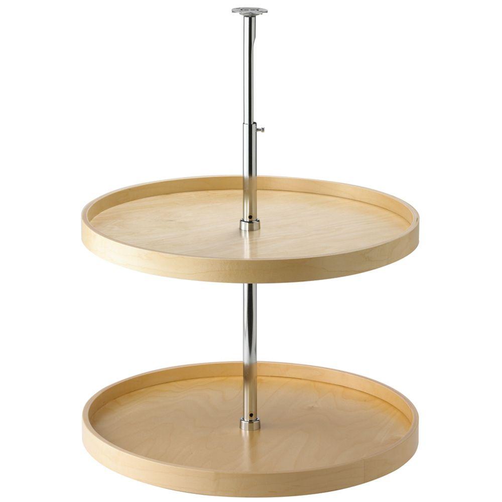 Plateaux tournants ronds en bois - 24 pouces de diamètre