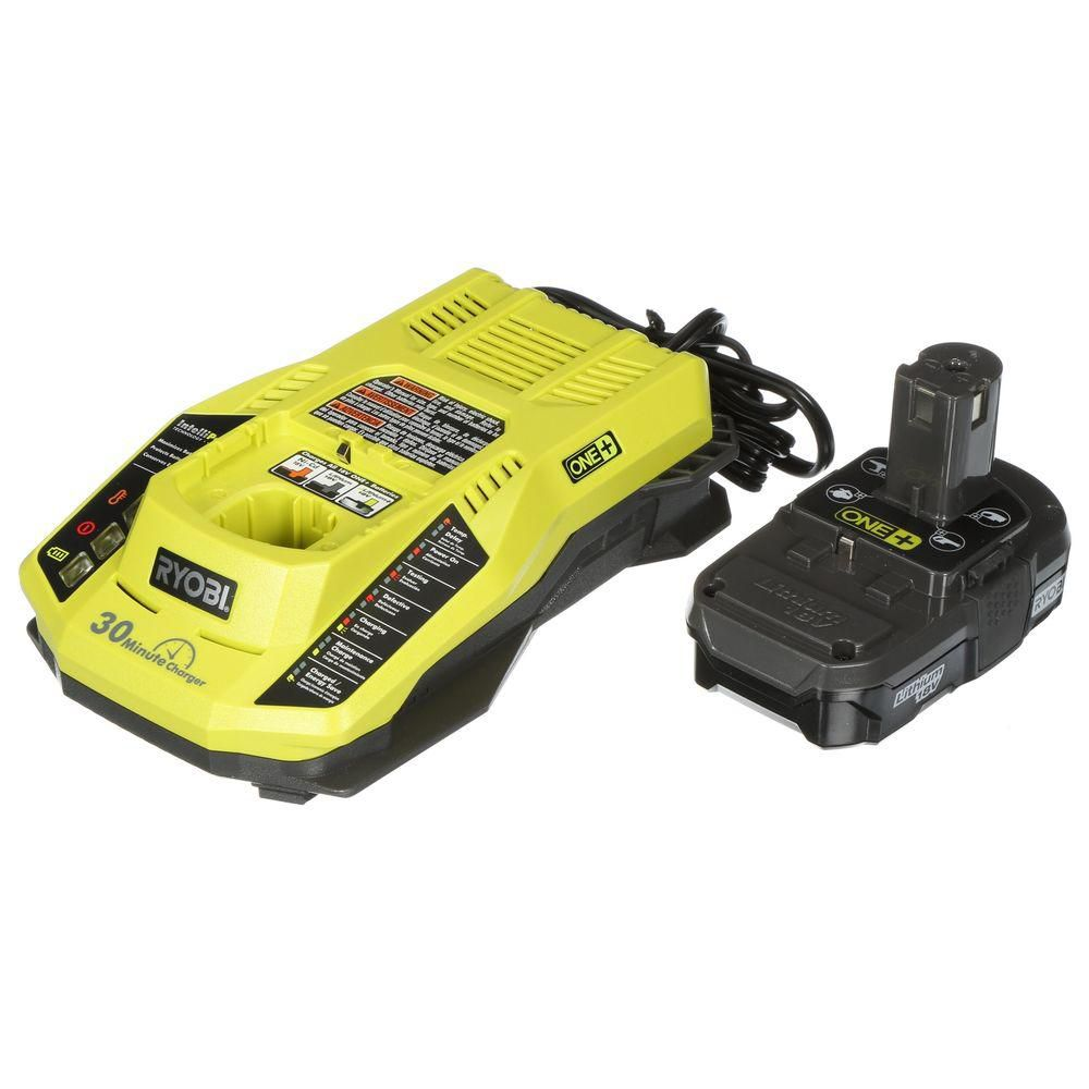 RYOBI 18V ONE+ Lithium-Ion Battery and IntelliPort Charger Upgrade Kit