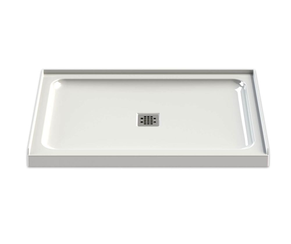 White Olympia Base 48 Inch x 32 Inch - Square Drain