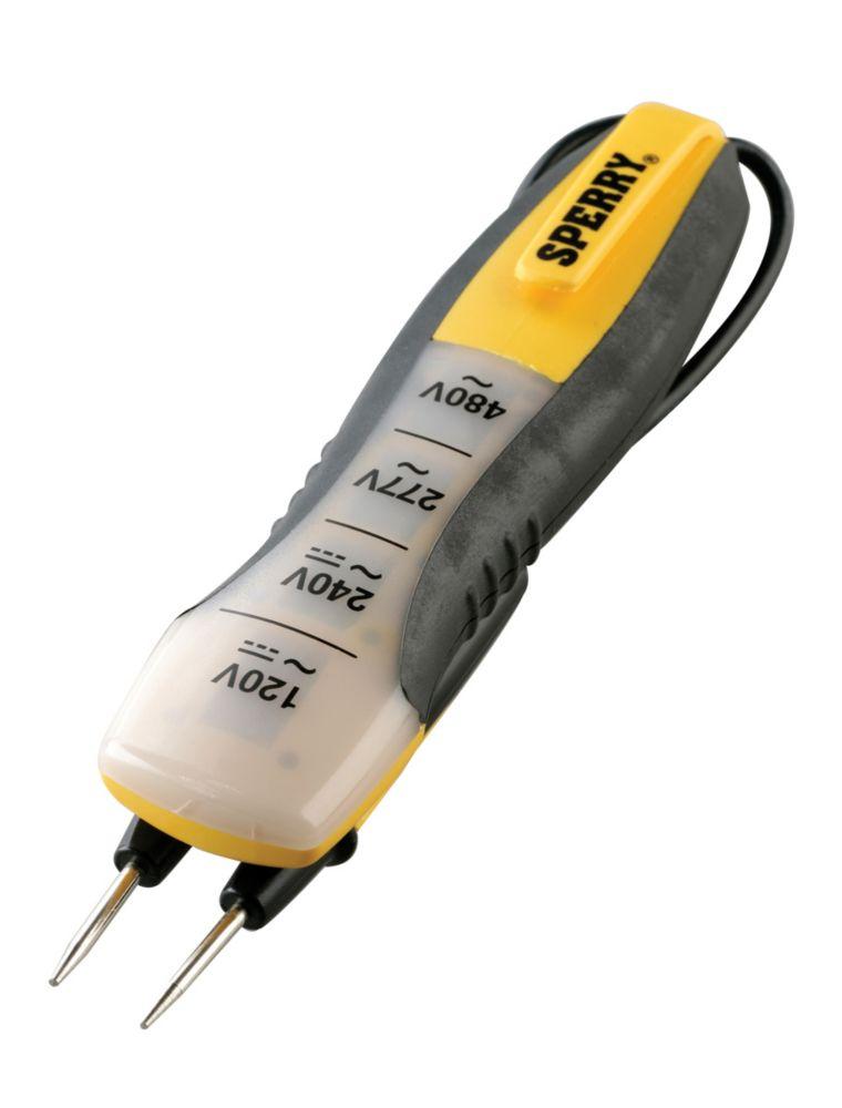 4-Range Voltage Tester, 80-480 VAC/DC, 1/Ea