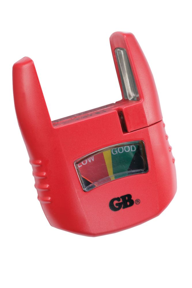 Battery Tester,  Analog Low/Good Indicator, Test AA, AAA, C, D, 9 V, 1.5 volt button cells, 1/Ea