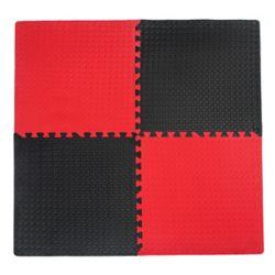Connect-A-Mat Utilitaire noir et rouge - 24 po x 24 po (paquet de 4)