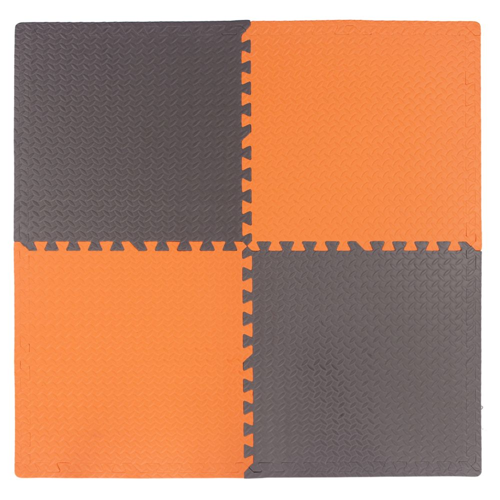 Connect-A-Mat Utility Grey and Home Depot Orange - 24 Inches x 24 Inches (4 pack)